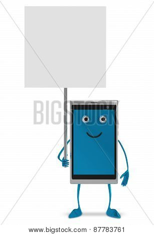 Smartphone Character Isolated