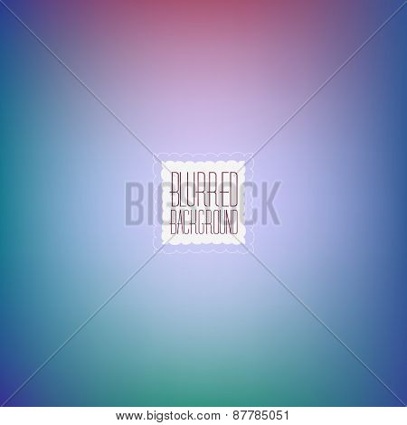Smooth abstract colorful blurred vector background