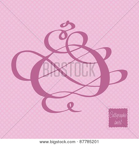 Calligraphic design element.  Vector illustration.