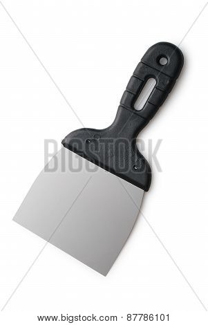 Small Spatula Paint On A White Background