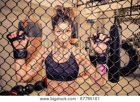Martial Arts Athletes Fighting