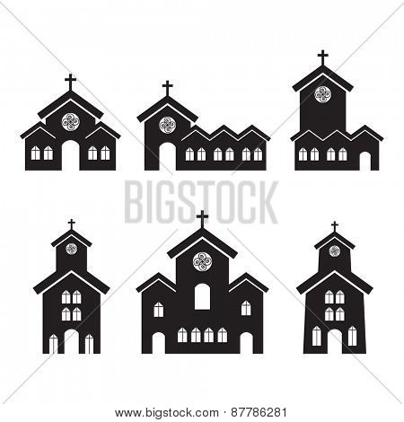 Various church building designs.