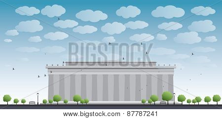 Abraham Lincoln Memorial in Washington DC USA Vector illustration