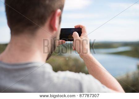 Man Taking Photos
