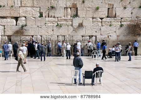 Praying At The Western Wall, Israel