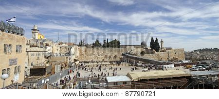 Temple Mount, Western Wall,  Mughrabi Bridge, Al-aqsa Mosque