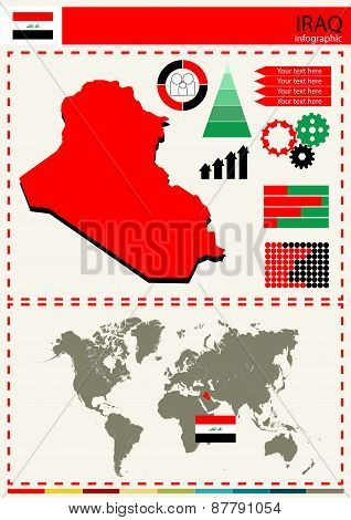 Vector Iraq Illustration Country Nation National Culture Concept