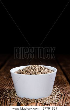 Portion Of Hemp Seeds