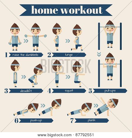 Sport and fitness infographics.