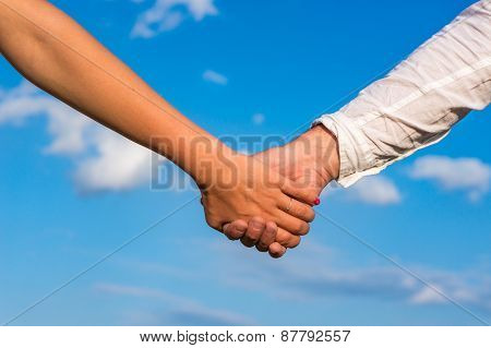 Two Pairs Of Hands In Love