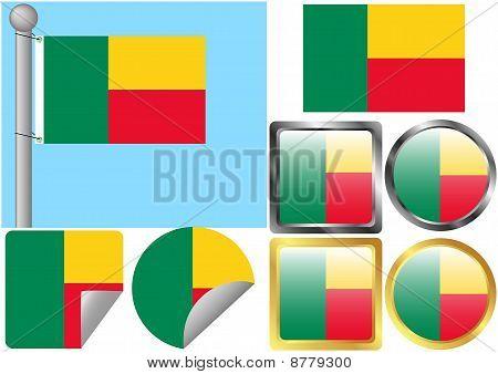 Flag Set Benin