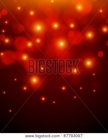 Red background with lights.