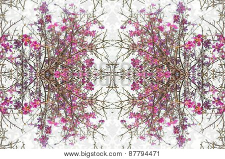 Floral Decorative Collage Design