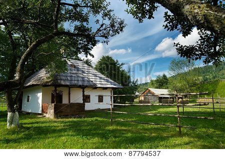 Traditional romanian house from Bucovina/Moldova area