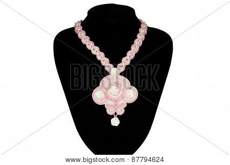Pink Necklace On A Rack