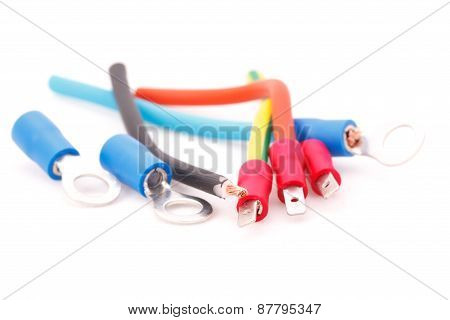 Cable Connectors Isolated On White Background