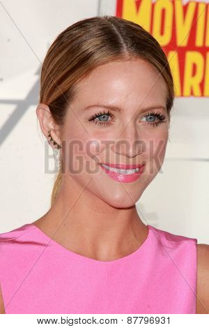 LOS ANGELES - FEB 11:  Brittany Snow at the MTV Movie Awards 2015 at the Nokia Theater on April 11, 2015 in Los Angeles, CA
