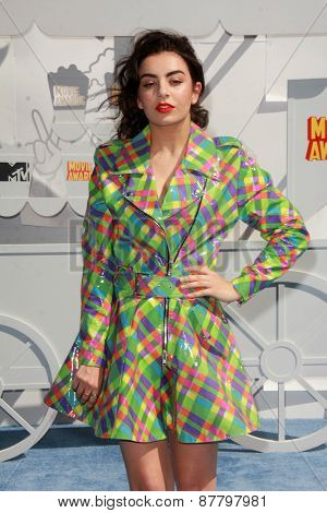 LOS ANGELES - FEB 11:  Charli XCX at the MTV Movie Awards 2015 at the Nokia Theater on April 11, 2015 in Los Angeles, CA