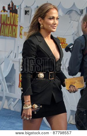 LOS ANGELES - FEB 11:  Jennifer Lopez at the MTV Movie Awards 2015 at the Nokia Theater on April 11, 2015 in Los Angeles, CA