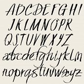 image of calligraphy  - Vector set of hand drawn font - JPG