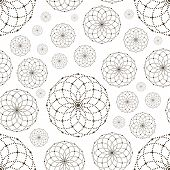 image of node  - Dotted seamless pattern with circles and nodes - JPG