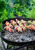 stock photo of bbq food  - Summer barbecue - JPG