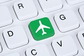picture of internet shop  - Booking flight and holidays online shopping e - JPG