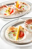 stock photo of scallops  - scallops on the party table - JPG