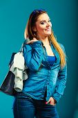 stock photo of denim jeans  - Fashion and shopping - JPG