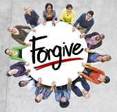 picture of forgiveness  - Diverse People Holding Hands Forgive Concept - JPG