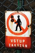 stock photo of no entry  - Staged photo with signs  - JPG