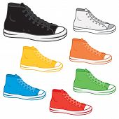 pic of generic  - Generic high top sneakers in a variety of basic colours - JPG