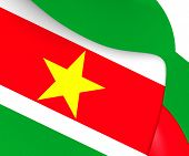 pic of suriname  - 3D Flag of the Suriname - JPG