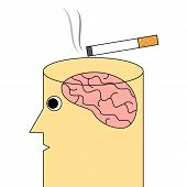 foto of addiction to smoking  - Vector illustration of cigarette or smoking addiction concept - JPG