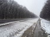 stock photo of icy road  - Snow - JPG