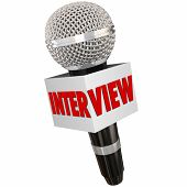 pic of interview  - Interview word on a reporter - JPG
