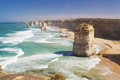 stock photo of 12 apostles  - Twelve Apostles in Australia in the daytime - JPG