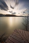 pic of long distance  - Beautiful long exposure landscape of lake in Mazury lake district  - JPG