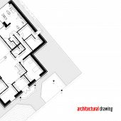 pic of architecture  - Architectural drawing of a private house - JPG