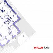image of architecture  - Architectural drawing of a private house - JPG
