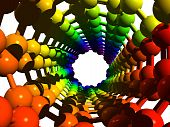 picture of nanotube  - The molecule of nanotube  - JPG
