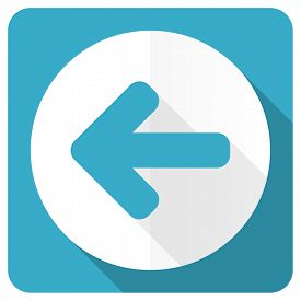 picture of arrow  - left arrow blue flat icon arrow sign  - JPG