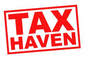 picture of tariff  - TAX HAVEN red Rubber Stamp over a white background - JPG