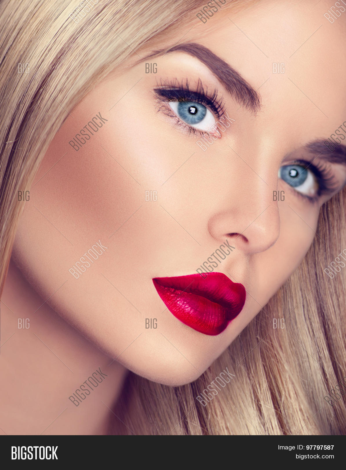 beautiful blonde girl healthy blond image amp photo bigstock