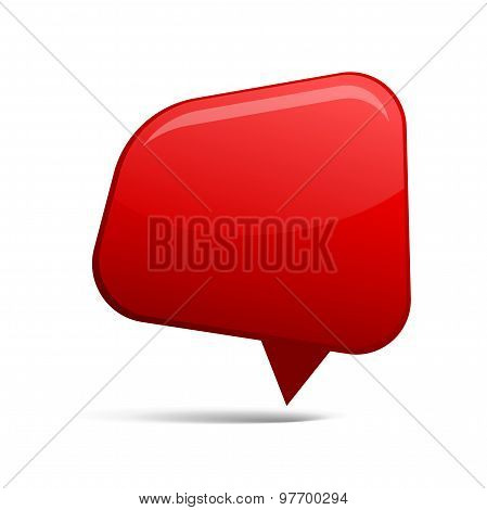 Abstract Red Speech Bubbles. Vector Illustration
