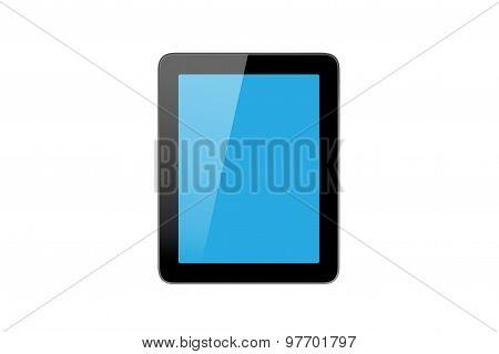 Blue Blank Tablet Screen