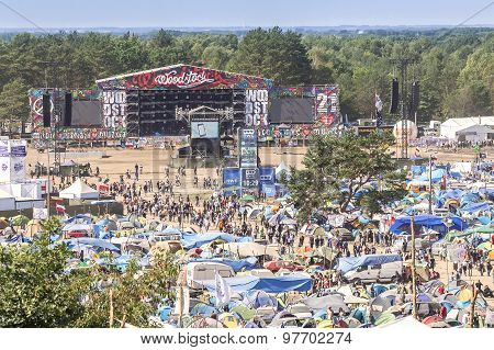 General View Of Main Stage And Tents.