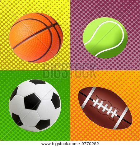 Sport Balls Background