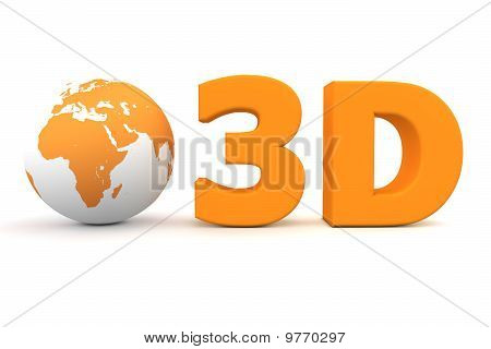 Global 3D - Matt Orange