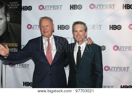 LOS ANGELES - JUL 11:  Tab Hunter, Allan Glaser at the
